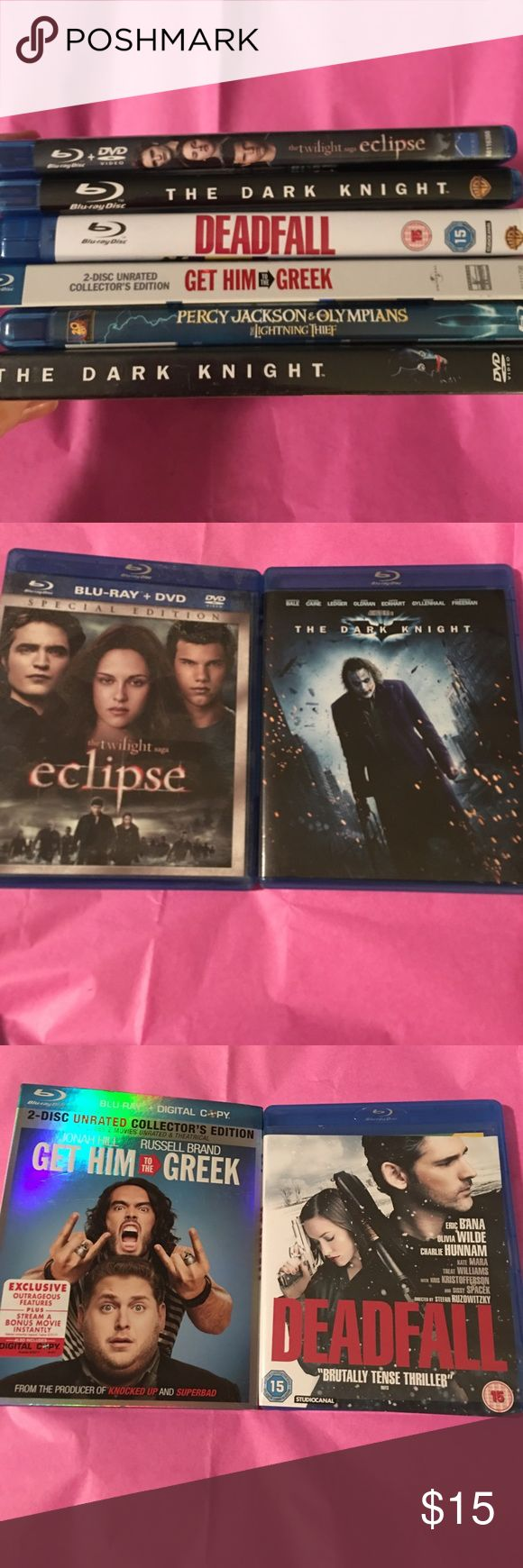 Bundle of Blu Rays 5 Total-No scratches-Some have DVD and Blu Ray Included- Other