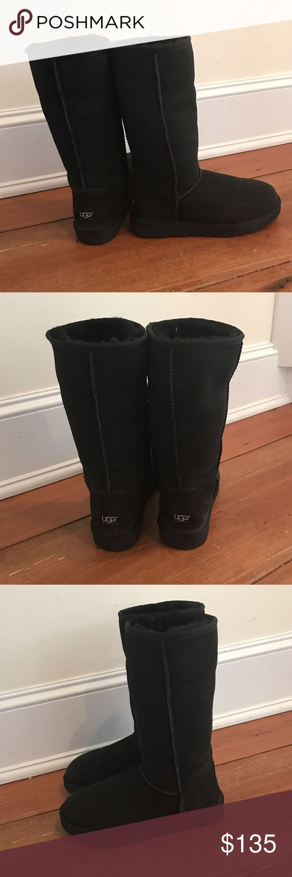 Ugg tall black boots size 7 Ugg tall black boots size 7. Excellent condition only worn a few times in nice weather. UGG Shoes
