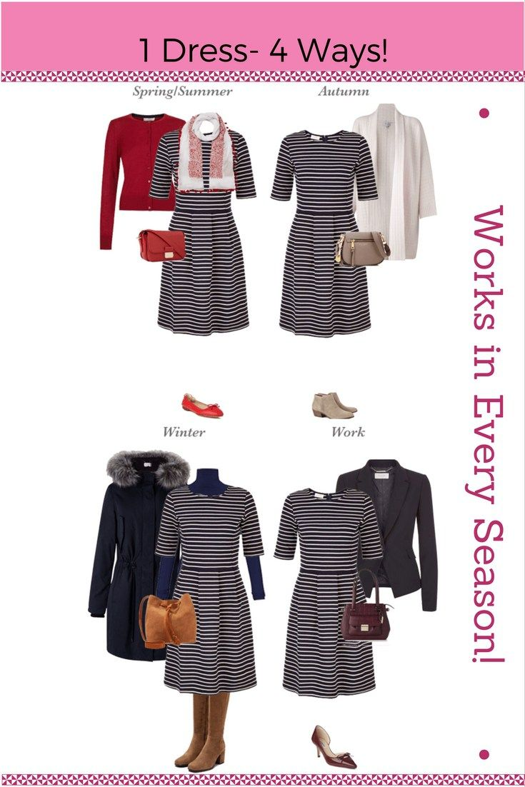 1 dress - 4 ways! This jersey dress should be a staple in everyone's Autumn wardrobe!