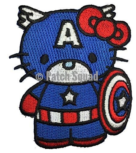 Velcro Captin America - Captin USA Kitty Morale Patch- By Patch Squad