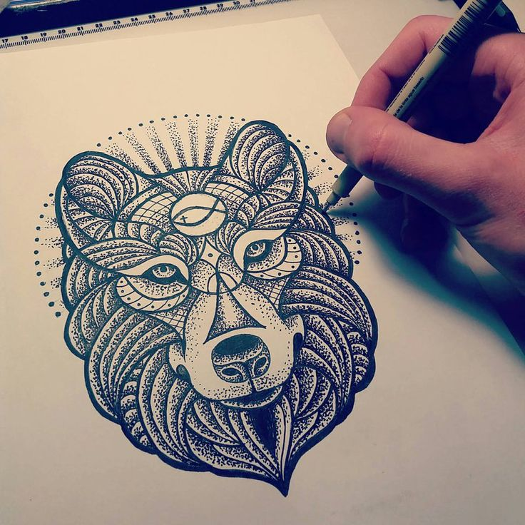 Wolf dotwork by Pabllo13