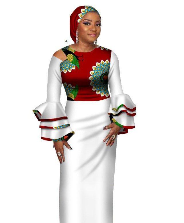 Robe Vintage Africaine Ankara 2018 Nouveau Style de robes africaines pour femmes Vestidos