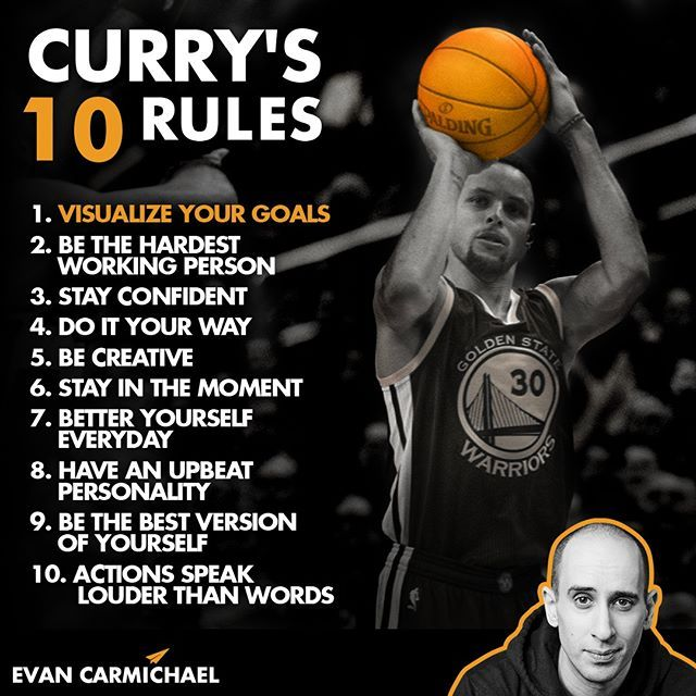 What S Your Favorite Stephen Curry Rule For Success Tag Him And So Ste Basketball Quotes Inspirational Motivational Basketball Quotes Basketball Quotes Girls