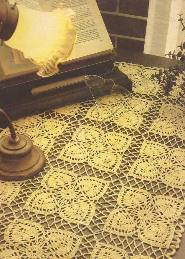 Tapete rectangular elaborado a crochet o ganchillo en hilo de ...