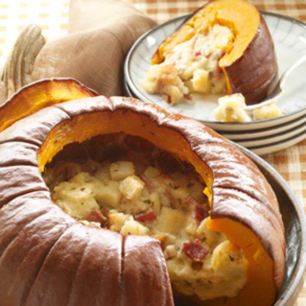 PUMPKIN STUFFED WITH EVERYTHING GOOD: Shortly after I was given this recipe, I started keeping a list of whom I'd made it for—because I loved it so much, I was sure that if I didn't keep track, I'd end up serving the dish to the same people over and over. The idea for it came from my friend Hélène Samuel's sister, Catherine, whose husband grows pumpkins on his farm just outside Lyon.