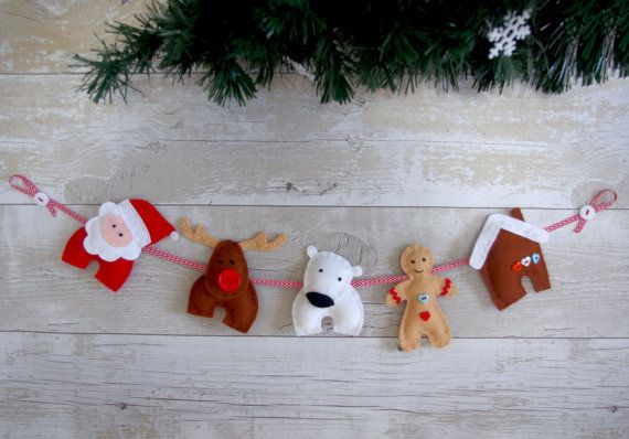 71 besten n hen weihnachten bilder auf pinterest - Weihnachtsgirlande basteln ...