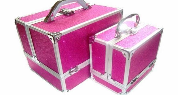 zanex cases Sparkly Hot Pink 2 Piece Beauty Makeup Vanity Case Box Hair Nails Jewellery No description (Barcode EAN = 5060260904246). http://www.comparestoreprices.co.uk/beauty-products/zanex-cases-sparkly-hot-pink-2-piece-beauty-makeup-vanity-case-box-hair-nails-jewellery.asp