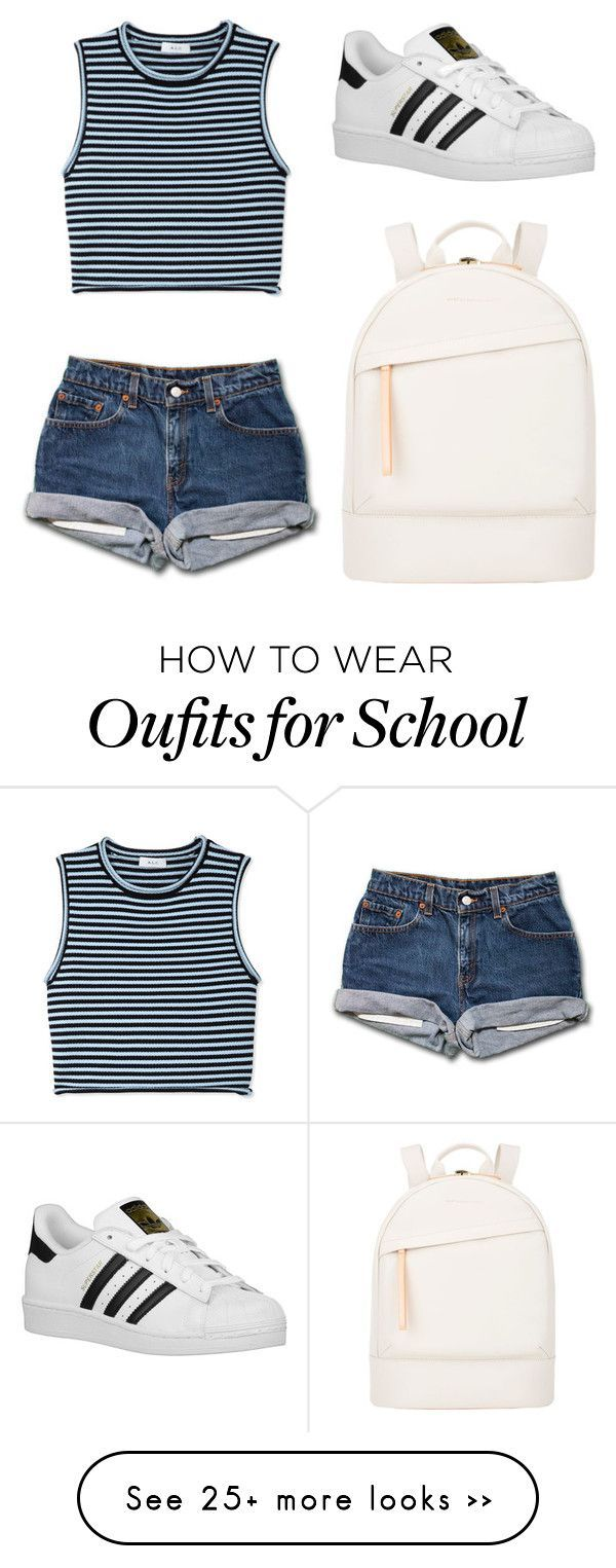 back to school #2 by skybelieve on Polyvore featuring A.L.C., adidas Originals…
