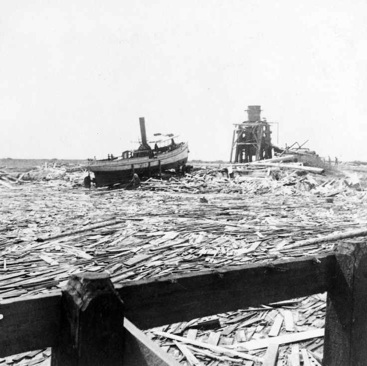 Floating Wreckage Galveston Hurricane of 1900