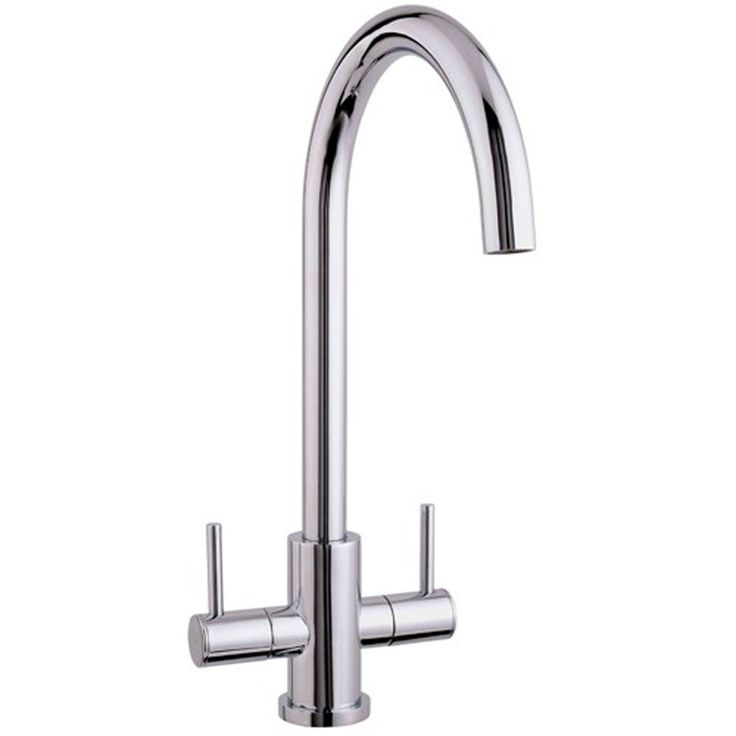 Astini Vibe Twin Lever Chrome Kitchen Sink Mixer Tap AK225