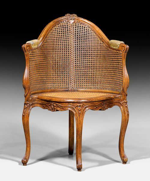 Fauteuil De Bureau Louis Xv Frankreich Um 1750 60x58x45x9