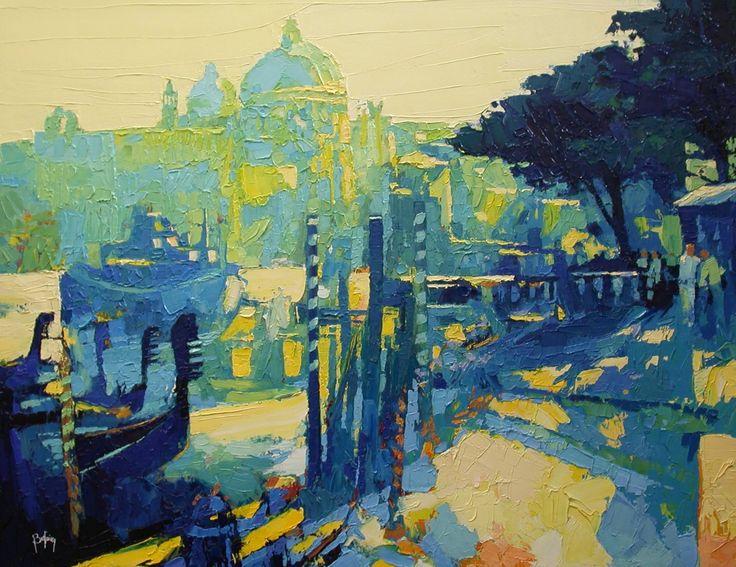 "Saatchi Art Artist: Alex Bertaina; Oil 2004 Painting ""Bleu venitien"""