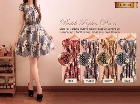 VNV2005 Batik Poplin Dress Rp 125.000