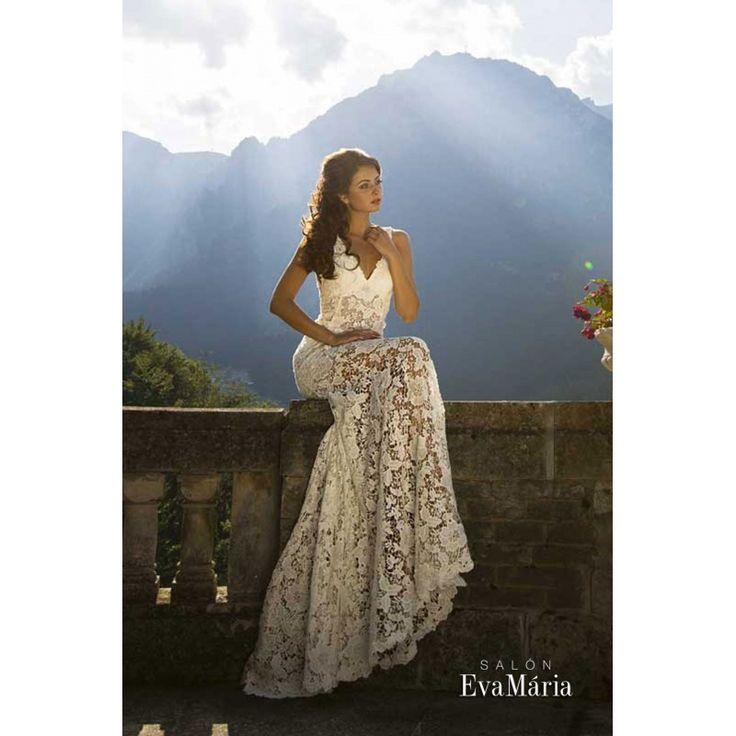 Svadobné krajkované šaty Valeri