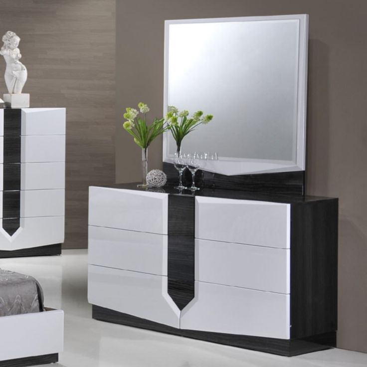 Global Furniture   Hudson 6 Drawer Zebra Dresser And Mirror Set    HUDSON(988)