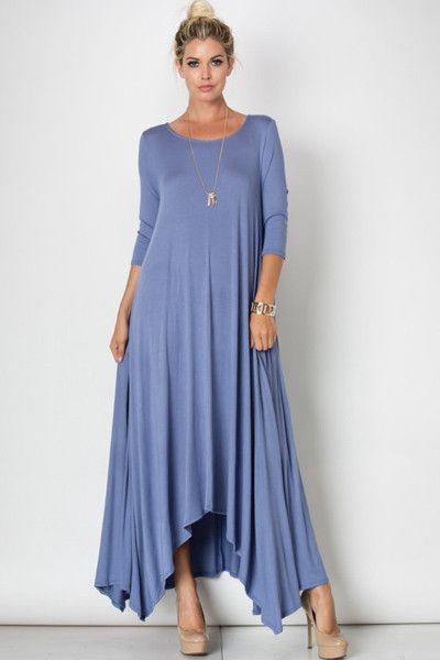 Free Falling Long Sleeve Maxi Dress (Additional Colors)