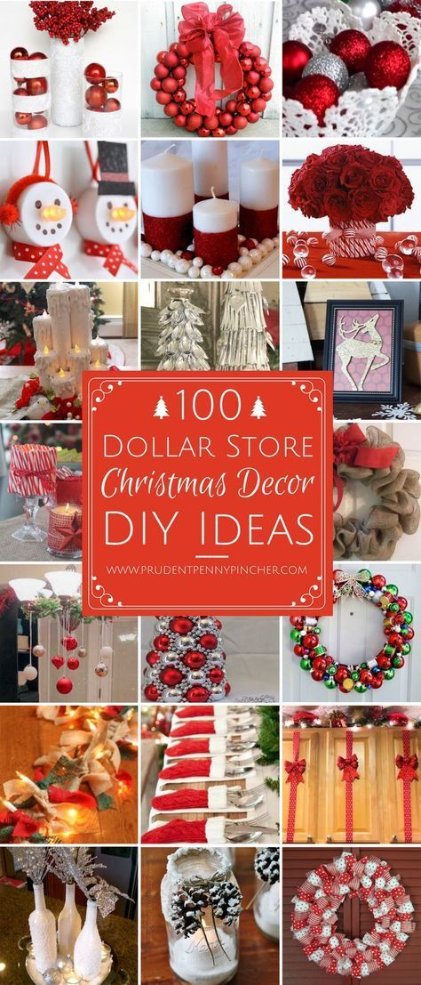 100 Dollar Store Christmas Decor DIY Ideas Dollar stores