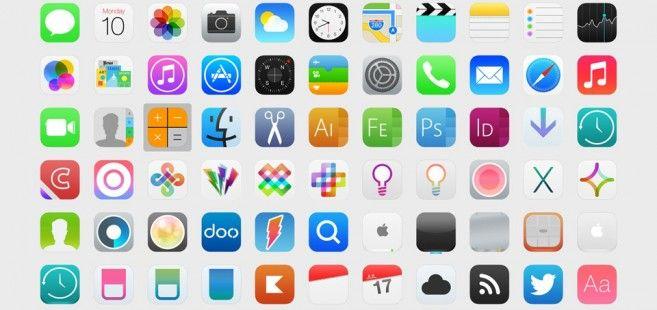 Aproveitamos que o lançamento do iOS 7 está próximo para selecionarmos alguns exemplos bacanas de flat icons