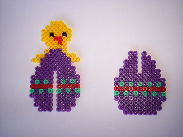 3D Easter chick egg hama perler by les-anges-geek