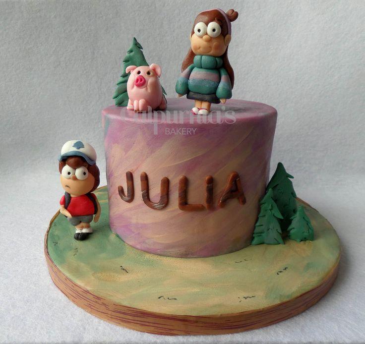 Gravity Falls fondant cake