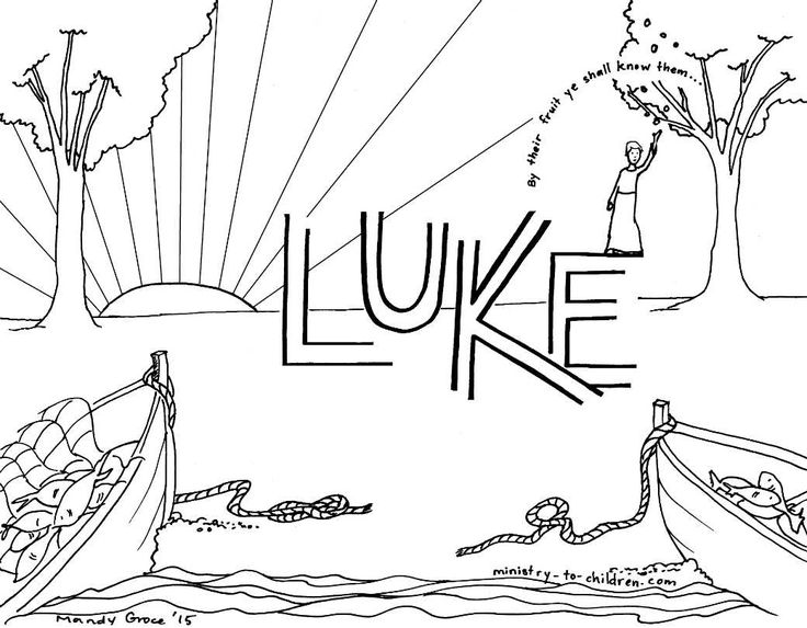 luke 5 coloring pages - photo#16