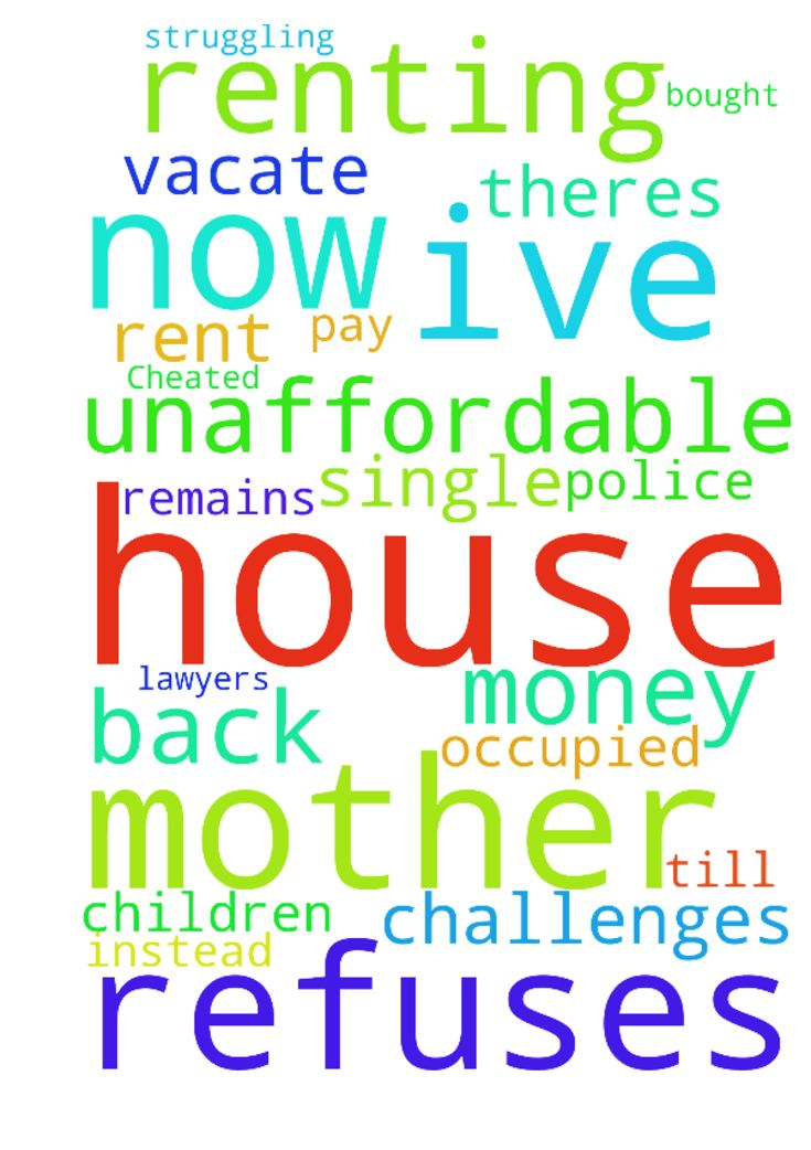 Cheated -  I bought a house cash in June 2014 but I havent occupied it till now. Theres an occupant who refuses to vacate the house and the man who sold it to me refuses to pay back my money. Im renting now moving from house to house as the rent becomes unaffordable. My children have left me maybe because Im a struggling mother. Ive asked for prayer from pastors, friends, prayer lines, Ive fasted and prayed, been to lawyers and the police but my situation remains the same instead Im…