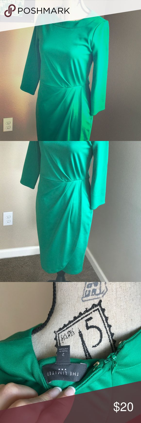 Fun & Bright Green Work Dress! Limited Limited green dress.  Work once.  Great condition.  Fully lined. The Limited Dresses Midi