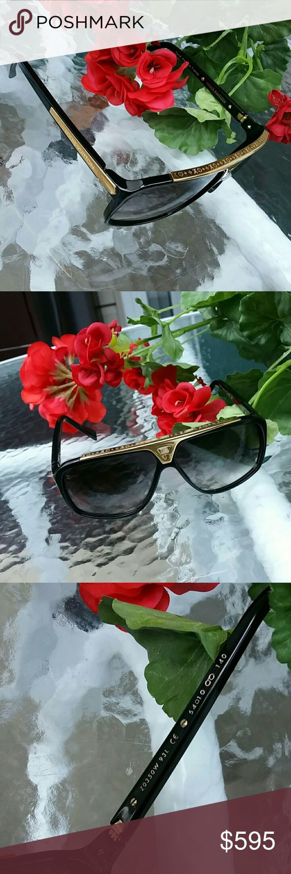 Authentic Louis vuitton evidence sunglasses Like new condition. .. no single scratch. ..no case but I will provide another high end designer sunglasses case Louis Vuitton Accessories