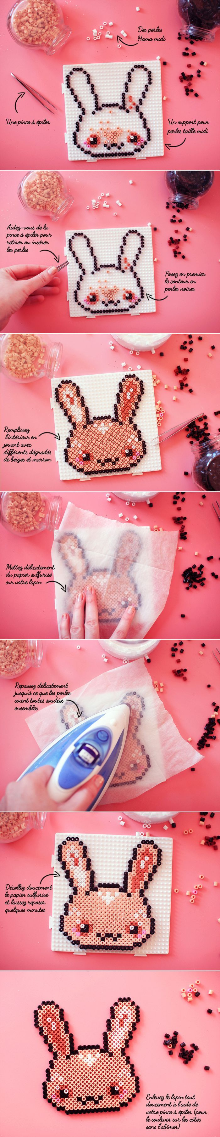 Hama Perler Bead Bunny:
