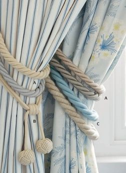 Laura Ashley Blue Curtains