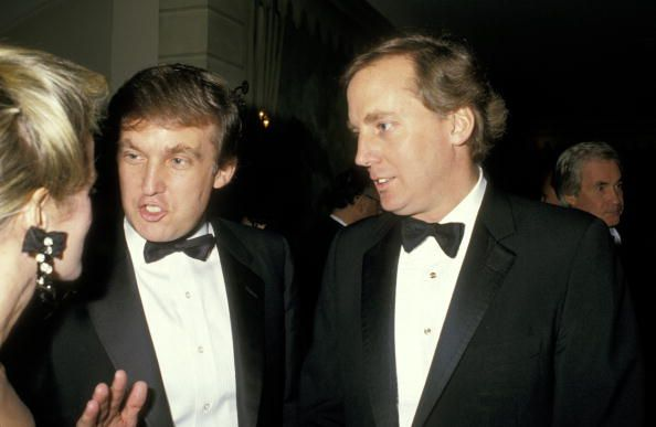 Blaine Trump Donald Trump and Robert Trump during Benefit For The Seeing Eye at Pierre Hotel in New York City New York United States