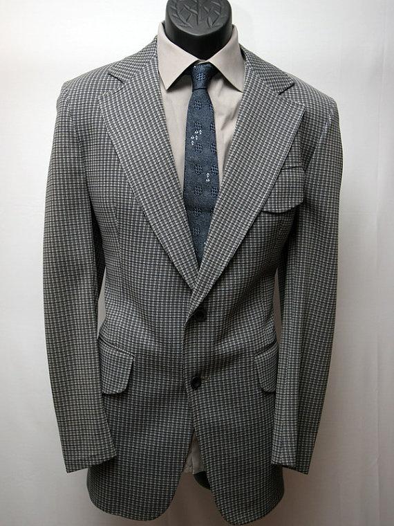 Vintage Men's Suit Grey 2 Piece Size 39R by VintageClothingWear, $98.00