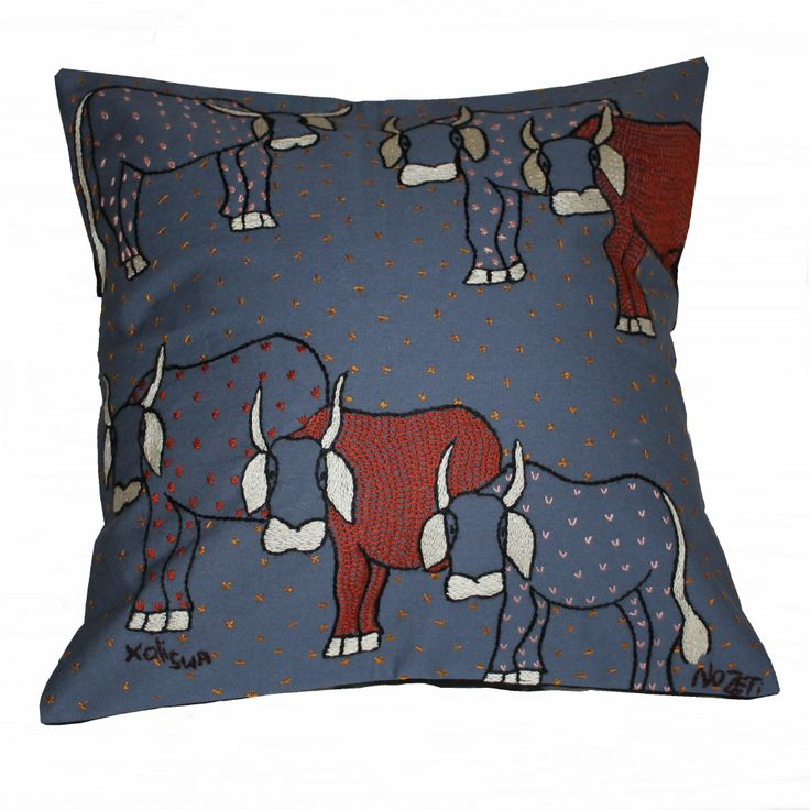#fairtrade #handmade #African needlework cushions