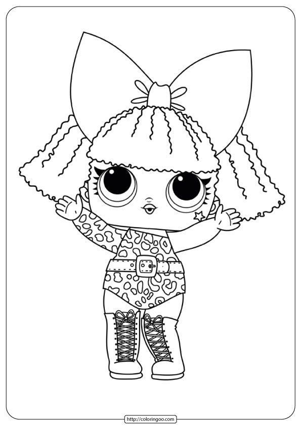 Lol Surprise Coloring Pages Print And Color In 2021 Unicorn Coloring Pages Lol Dolls Printable Coloring Pages