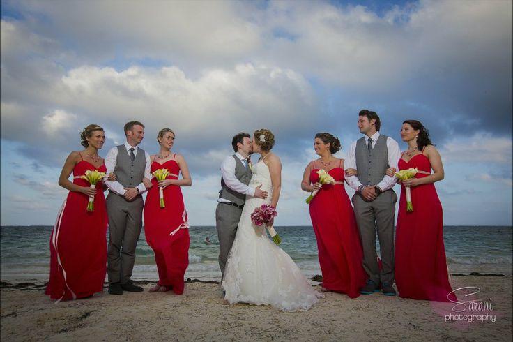 Custom Bridal + Bridesmaid Jewelry Sets Photography Credit: Sarani Weddings  Azul Beach / Karisma / Mexico www.aebumble.com
