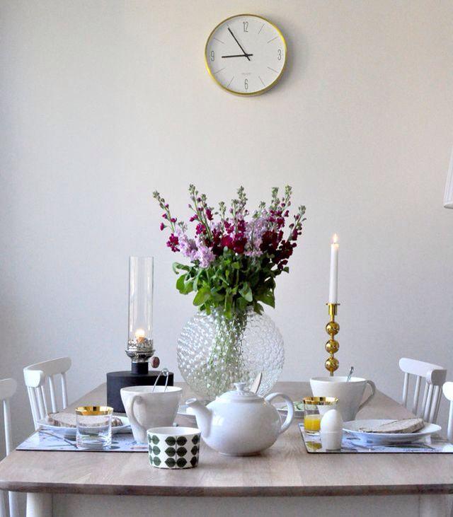 Home of debbie.nu dendardebbie svenskt tenn dagg tre kulor klong patina le creuset stig Lindberg lövkoja frukost matbord matplats