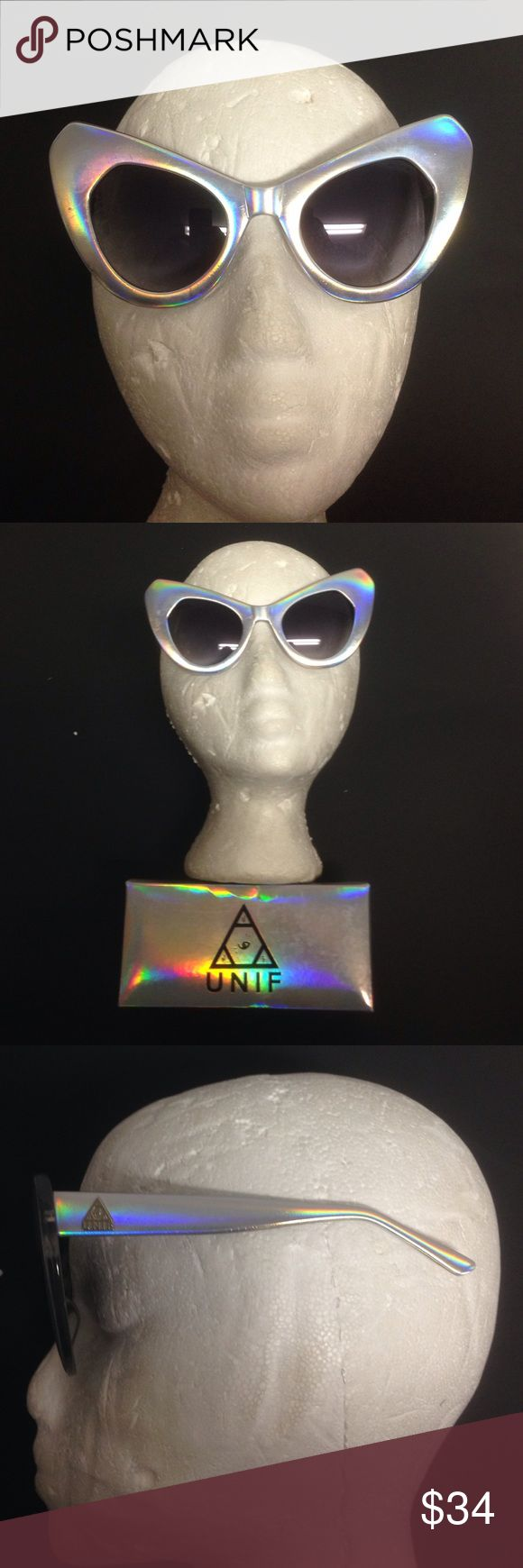 Sun glasses UNIF the shadys hologram new pinup Brand New in box UNIF sunglasses hologram silver style name The Shady color is hologram pin up style 1b UNIF Accessories Glasses