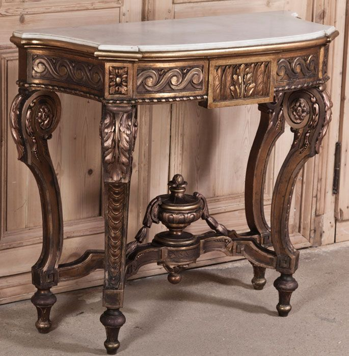 Antique French Louis XVI Giltwood Console | Antique Furniture | Inessa  Stewart's Antiques #antique # - 427 Best Antique Furniture Images On Pinterest Antique Furniture