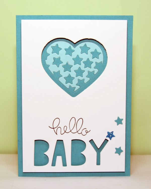 Hello is from Simon Says Stamp Hello friends set, Baby dies are from Lawn Fawn Finley's abc, the heart die and inlaid heart are from the classic christmas collection calles star filled heart by Amy design