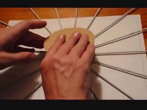 7.2 . La base de cartón: cómo pegar los tubos.