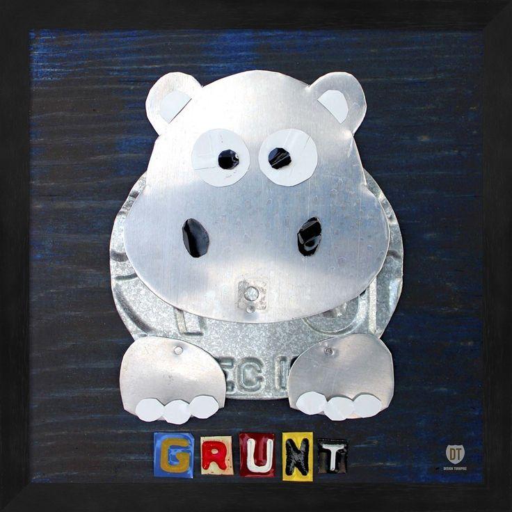 Design Turnpike 'Grunt The Hippo' Framed Art