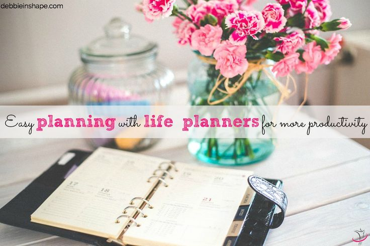 Easy planning with life planners for more productivity.