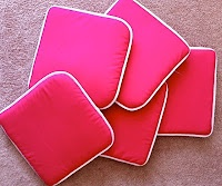 Use inexpensive seat cushions in a classroom reading area. They stack up and can be tucked away much more easily than bean bag chairs or other fun chairs for kids when not in use. Comfy, fun and affordable!