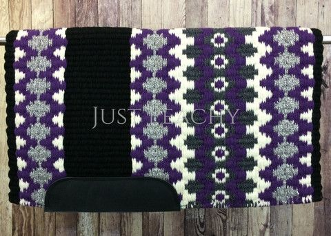 34 x 40 Oversized western show pad ~ oversized saddle blanket at Just Peachy