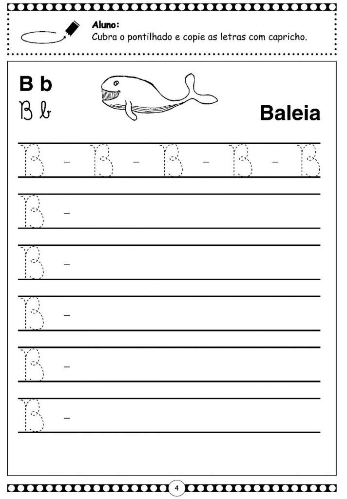Letra Cursiva - B - Maiúscula