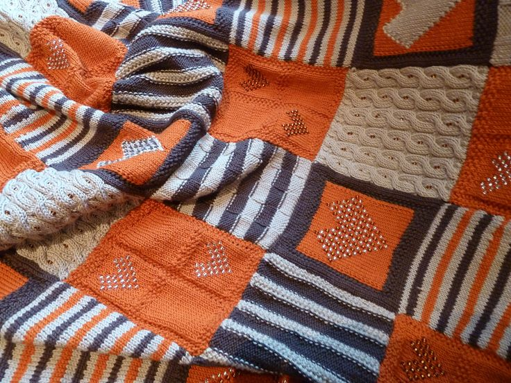 Look how clever our customers are. M knitted this lovely Debbie Abrahams Blanket in her own Riso Essential Cotton colours from Manfield Crafts. UK