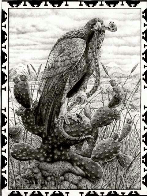 Mexican Eagle and Snake