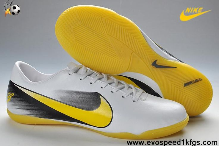 Discount Nike Mercurial Vapor X FG White Yellow Black Football Shoes For SaleFootball Boots For Sale