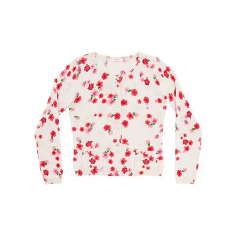 Cardigan round neck with floral pattern SUN68 Woman SS15 #SUN68 #SS15 #woman #cardigan