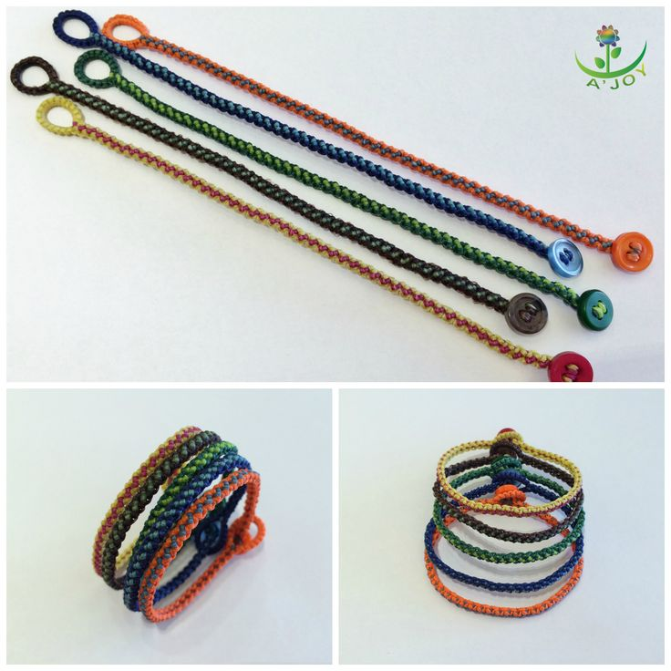 Friendship Bracelet FB00026 (Strings : 4, Colours : 2, Rows : 4)
